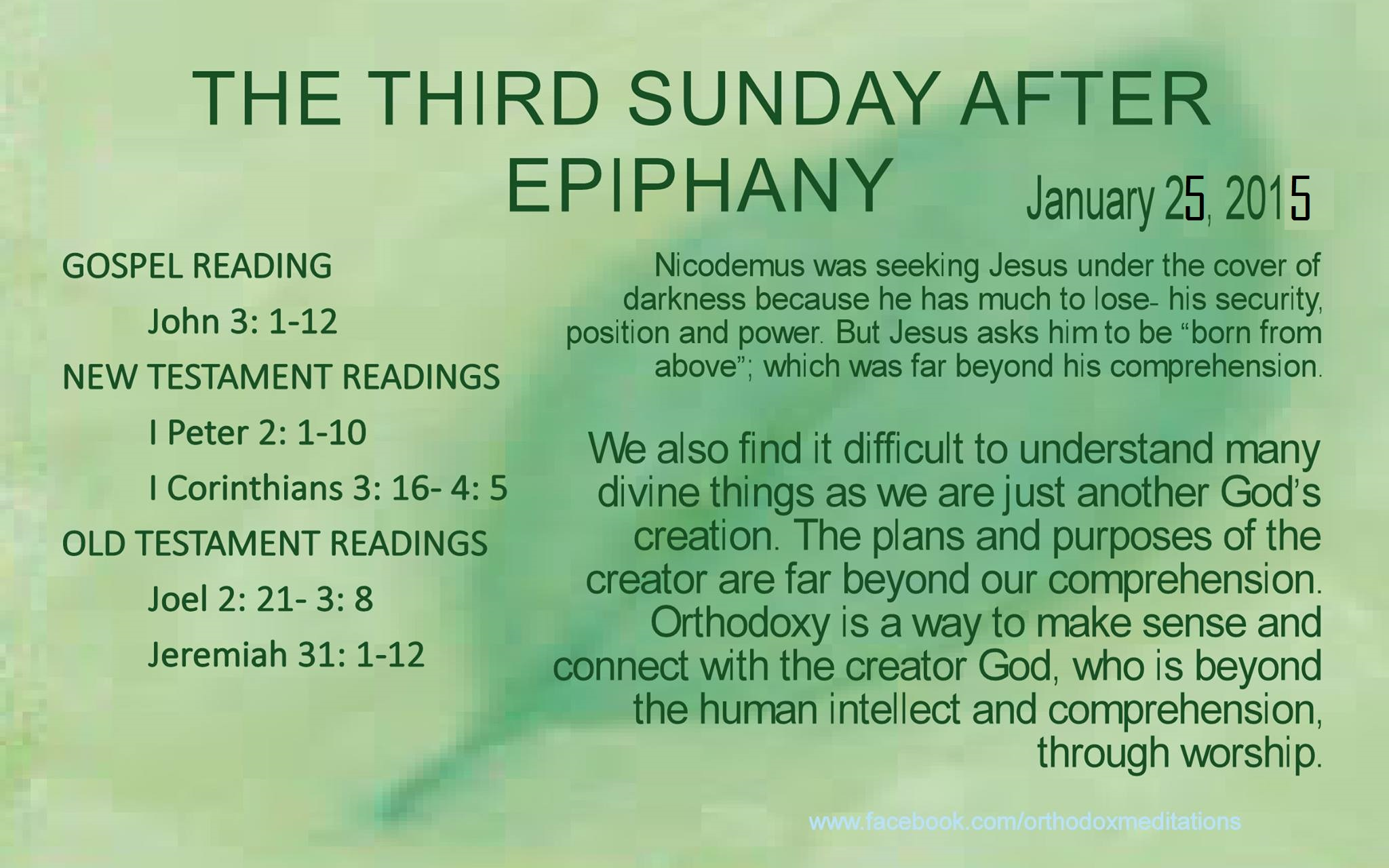 3rd sunday after ephiphany